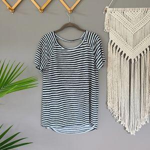 Wasabi + Mint | Open back striped tee size L